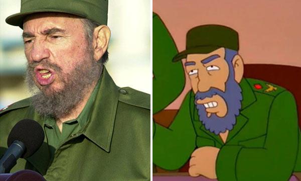 Fidel Castro en los Simpsons | Composición Notitotal