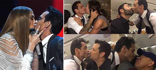 Marc Anthony se volvió loco y besó a todo el mundo para justificar beso con JLo | Foto: Maduradas