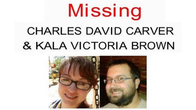 Tras la desaparición de la pareja, alguien empezó a usar la cuenta de Facebook de Charlie Carver y hasta compartió el cartel policial de búsqueda   CITY OF ANDERSON POLICE DEPARTMENT