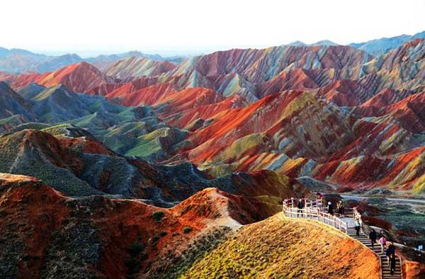 Parque Geológico Nacional Zhangye Danxia | Foto: Agencias