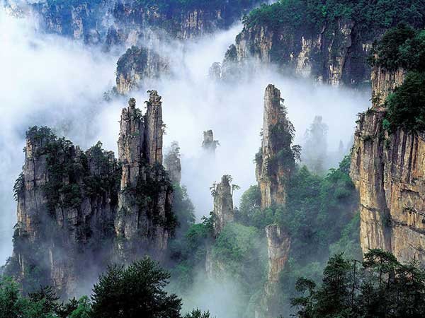 Montañas Tianzi, China | Foto: Agencias
