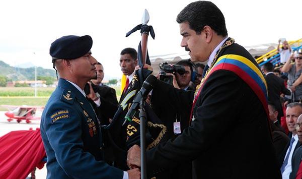 Nicolás Maduro durante la celebración del aniversario 96 de la Aviación | Foto: @PresidencialVen