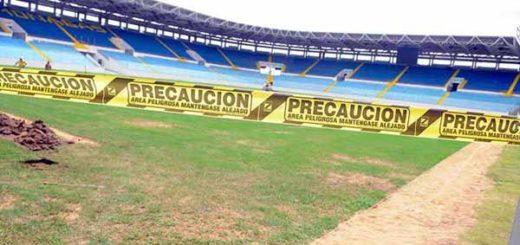 Estadio de Maturín en reparaciones   Foto: prensa de la FBF