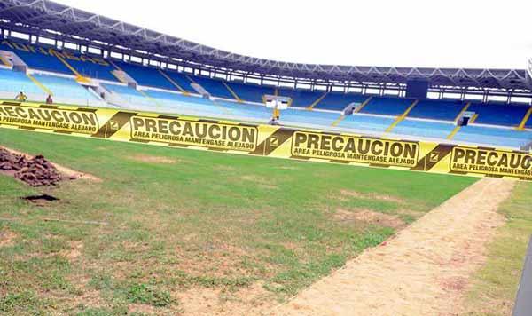 Estadio de Maturín en reparaciones | Foto: prensa de la FBF