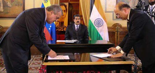 Pdvsa firma convenio con empresa india ONGC Videsh   Foto: PresidencialVen