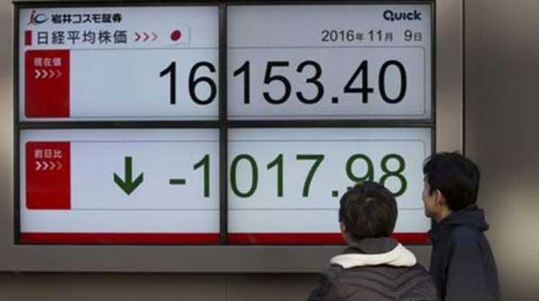 Los mercados asiáticos muestran fuertes caídas ante los resultados de las elecciones estadounidenses | Foto: Getty Image