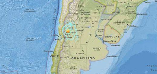 terremoto de magnitud 6,4 sacude Argentina y Chile   Foto: USGS