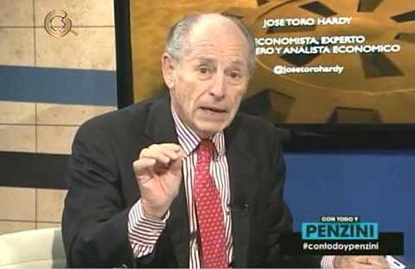 José Toro Hardy, experto petrolero y economista | Foto: captura de video