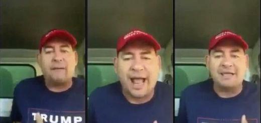 Cubano simpatizante de Donald Trump amenaza a inmigrantes | Composición Notitotal