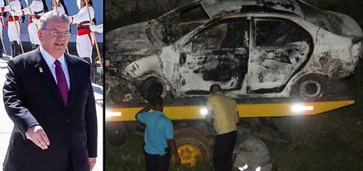 Policía de Rio investiga si carro calcinado con cadáver es de embajador griego   Fotomontaje