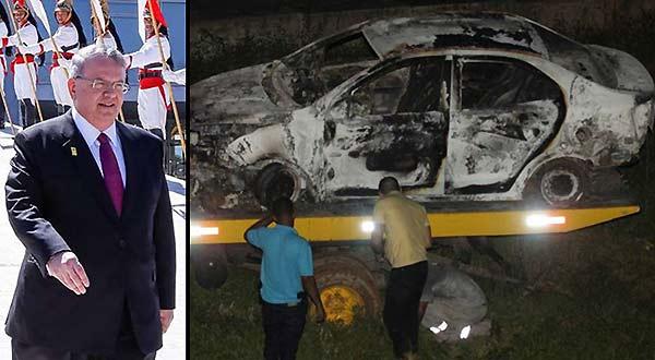 Policía de Rio investiga si carro calcinado con cadáver es de embajador griego | Fotomontaje