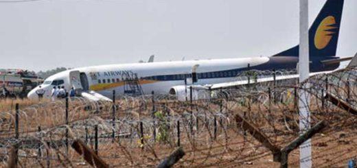 Quince heridos al salirse de la pista un avión en la India   Foto: AFP