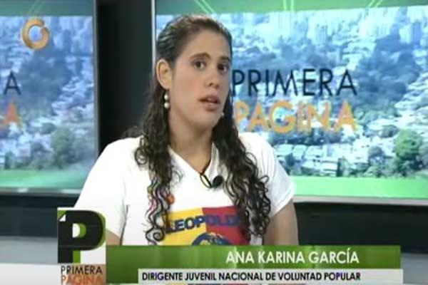 Ana Karina García, dirigente de VP habla de los diputados de UNT |Captura de video