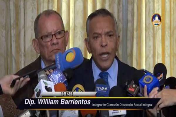 Diputado William Barrientos explica porqué no fue a la sesión del 15-D Captura de video