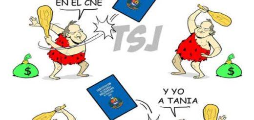 Caricatura sobre el TSJ |Foto cortesía