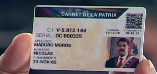 Así será el carnet de la Patria que anunció Maduro |Foto: Vtv