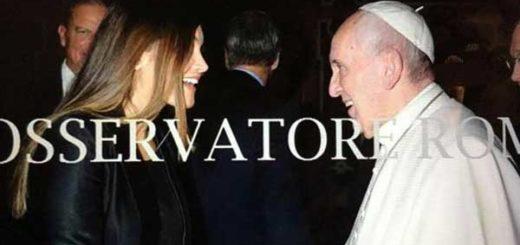 Chiquinquirá Delgado y el Papa Francisco   Foto: @chiqui_delgado