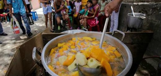 Envagélicos repartieron comida |Foto: Globovisión
