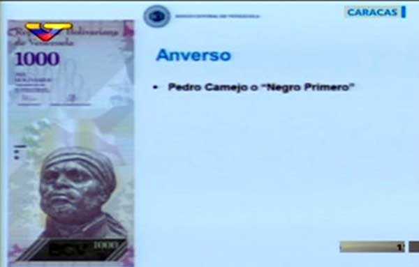 Billete de 1000 Bs. | Imagen: Captura de video