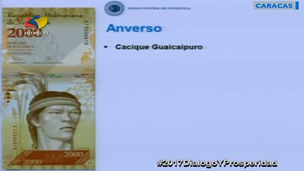 Billete de 2000 bs | Imagen: Captura de video