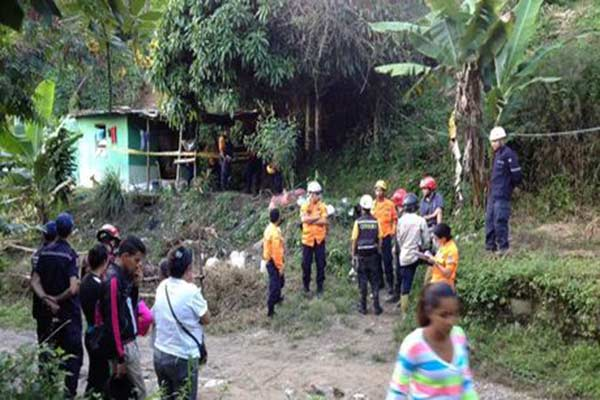 Deslizamiento de tierra en Los Teques |Foto: El Nacional