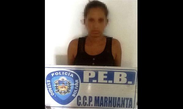 Madre detenida por prostituir a su hija | Foto: Correo del Caroní