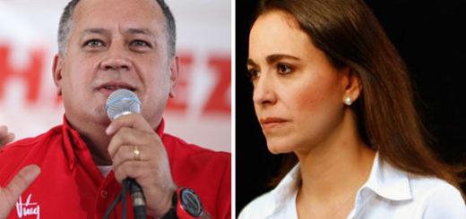Diosdado Cabello / María Corina Machado | Fotomontaje Notitotal