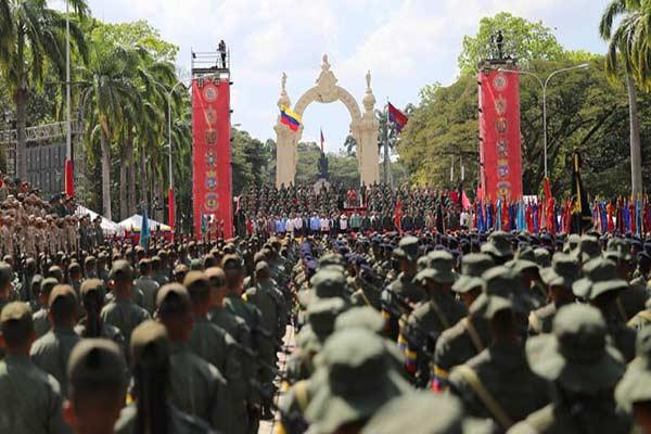 Mensaje de Salutación de la FANB |Foto: Prensa presidencial