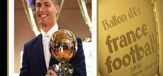 Cristiano Ronal obtuvo su cuarto Balón de Oro |Foto cortesía