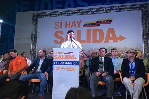 Freddy Guevara habla de nueva ruta de cambio  Foto: Twitter