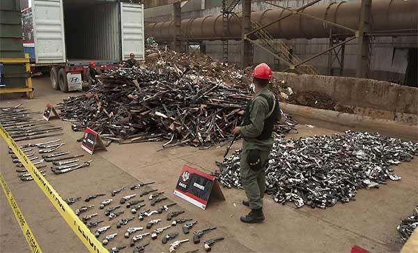 Armas serán fundidas para construir monumentos   Fotos: Ángel Zambrano/Karen Paradas