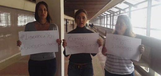 Desde el Palacio de Justicia, familiares piden la liberación de Yon Goicoechea|Captura de video