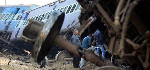 Accidente de tren en India dejó al menos 61 heridos  Foto: AFP
