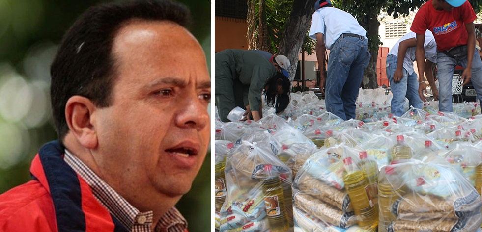 Ministro Marco Torres anuncia plan de abastecimiento con apoyo de los Clap en Bolívar |Composición