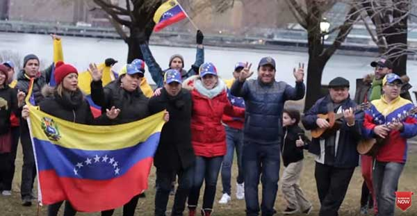 Venezolanos residentes en Nueva York, New Jersey y Connecticut grabaron un mensaje navideño | Captura de video