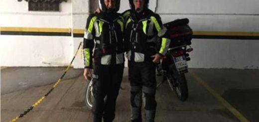 Rino Polata y Roberto Bardella (dcha.) pensaban recorrer 35.000 kilómetros en su viaje por América del Sur. | Foto: Facebook