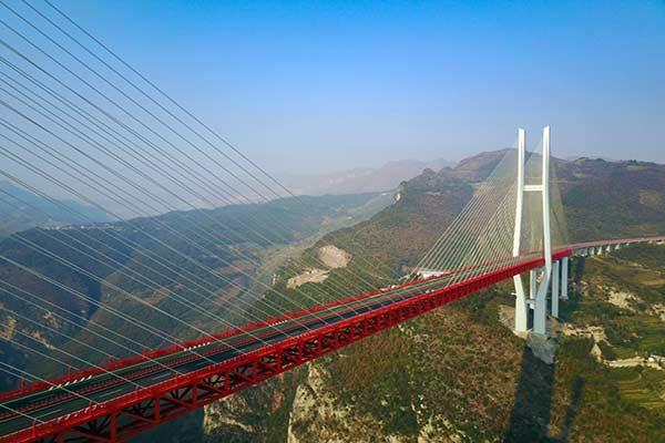 El puente más alto del mundo lo inaugura China |Foto: AFP