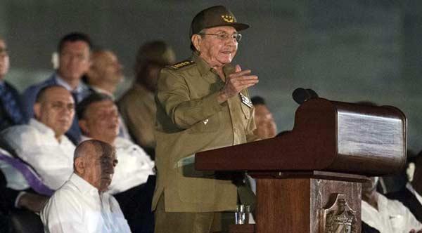 Raúl Castro en las honras fúnebres de Fidel Castro |Foto: EFE