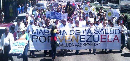 Médicos de Nueva Esparta alzaron su voz en protesta |Foto: Vente Venezuela
