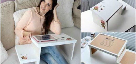 Realiza un bello Sofá-escritorio para usar tu Tablet o Laptop |Foto: Youtube