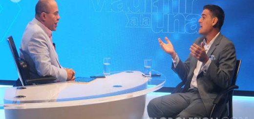 El periodista Vladimir Villegas y el actor Roberto Messuti debaten sobre Venezuela |Foto: Globovisión