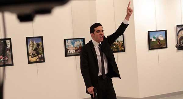 Mert Altintas, el atacante del embajador de Rusia en Turquía   Foto: vía @DailySabah