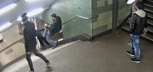 Agresión a joven en metro de Berlín | Foto: Captura de video