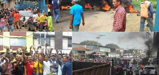 Protestas en El Callao | Fotos Twitter
