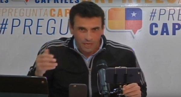 Henrique Capriles Captura de video