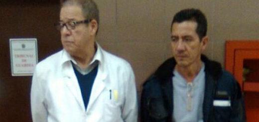Doctor Gonzalo Müller y sindicalista José Luis Spitia   Foto: @ AnibalSanchez
