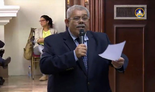 Diputado Elías Mata | Foto: Captura de video