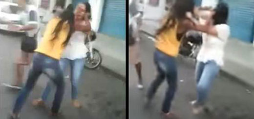 Mujeres peleando | captura de video