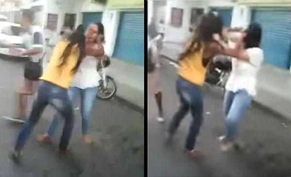 Mujeres peleando a golpes en cola para comprar azúcar | captura de video