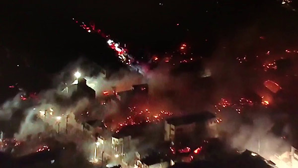 Incendio en Japón | Foto: captura de video